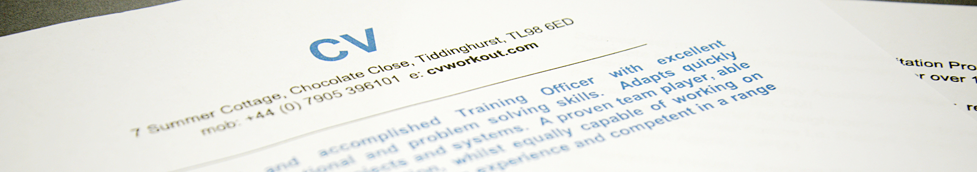 Graduate | CV Workout